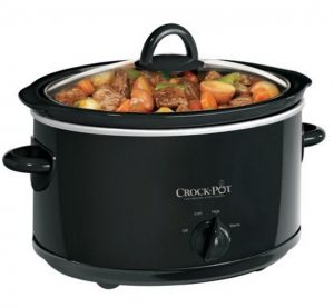 4 Quart Manual Crock Pot Slow Cooker-Black