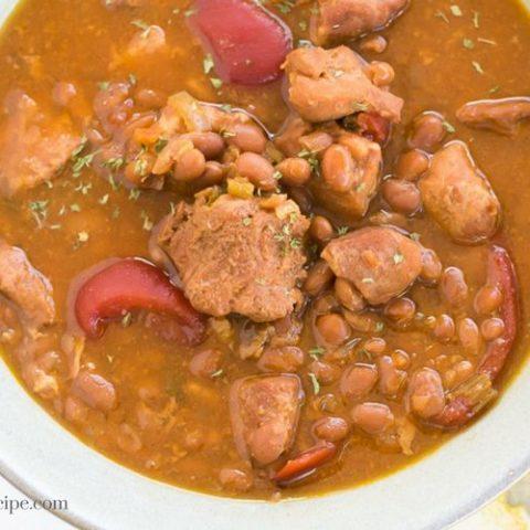 Crock Pot Pork Baked Bean Soup