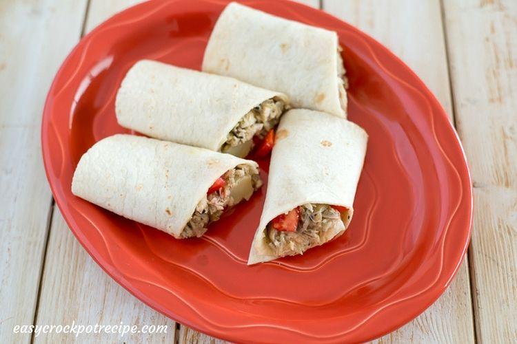 Slow Cooker Greek Chicken Wraps recipe