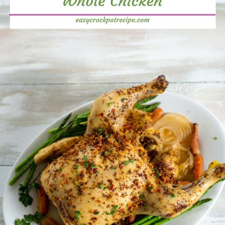 Crock Pot Whole Chicken Recipe via easycrockpotrecipe.com