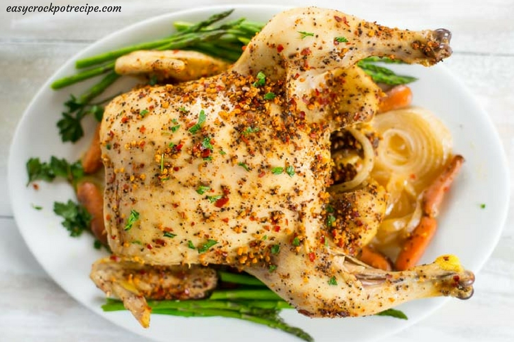 Slow Cooker Whole Chicken recipe via easycrockpotrecipe.com