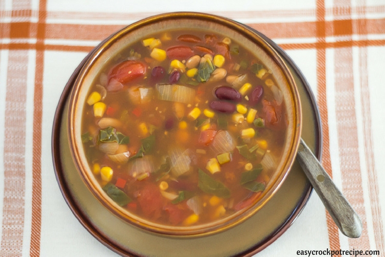 Crock Pot Vegetarian Bean soup recipe