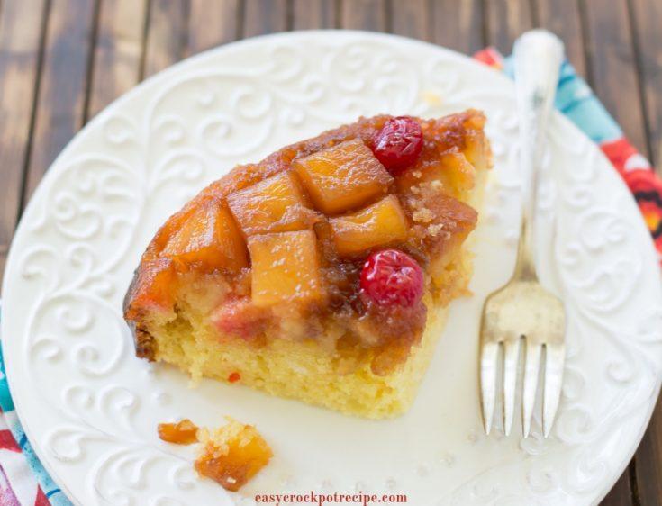 Crock Pot Pineapple Upside Down Cake Recipe