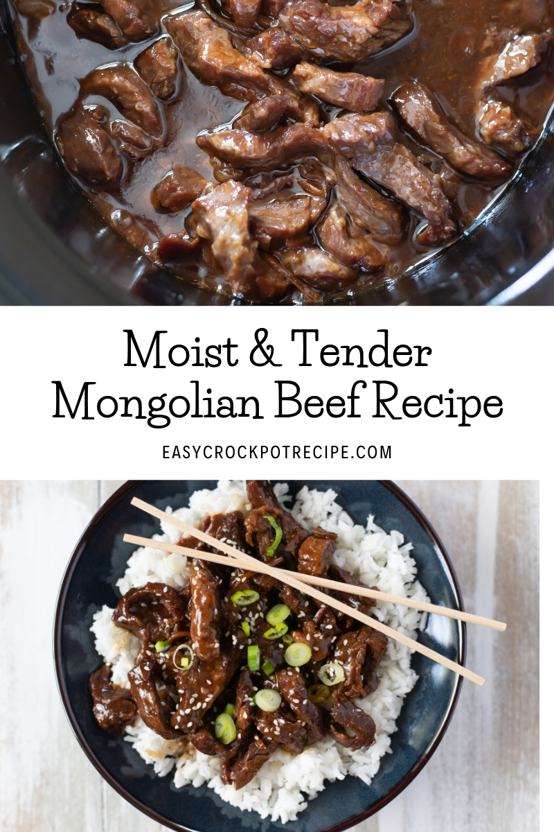 Moist and tender crock pot Mongolian Beef cooks up perfectly in a slow cooker.