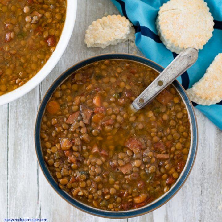 Crock Pot Ham and Lentils Soup Recipe